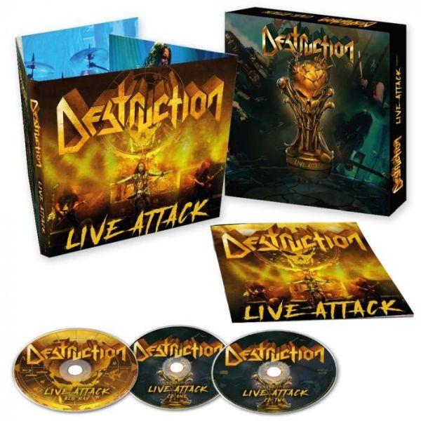 DESTRUCTION - LIVE ATTACK (2CD+BLURAY DIGI O-CARD)